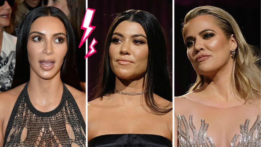 """""""F**k You"""": Kim Kardashians Mega-Beef mit Kourtney & Khloe"""