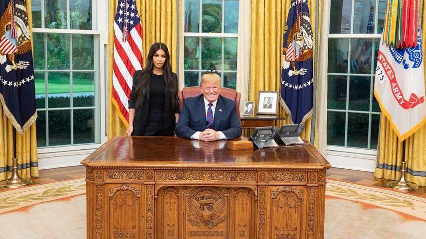 Foto mit Donald Trump: Kim Kardashian brauchte 20 Versuche