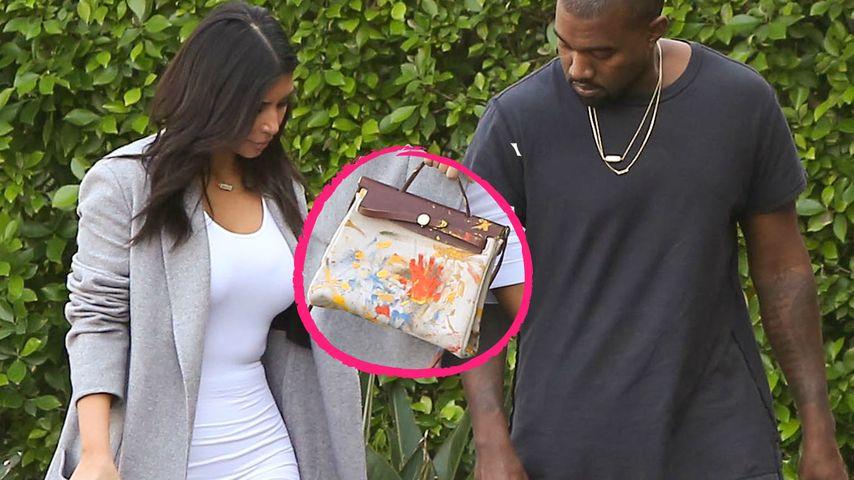 Bemalt: Kim Kardashian trägt Nori auf der Tasche