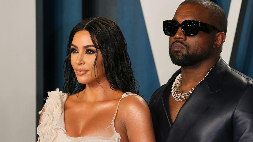 Kim Kardashian und Kanye West im Februar 2020