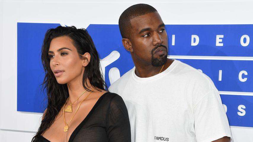 Kim Kardashian und Kanye West bei den MTV Music Awards 2016