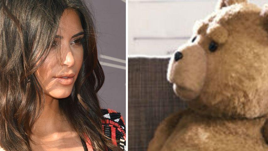 Bärvers! Kim Kardashian soll einen Teddy verführen