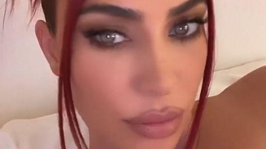 Neuer Look: Kim Kardashian hat sich ihre Haare rot gefärbt