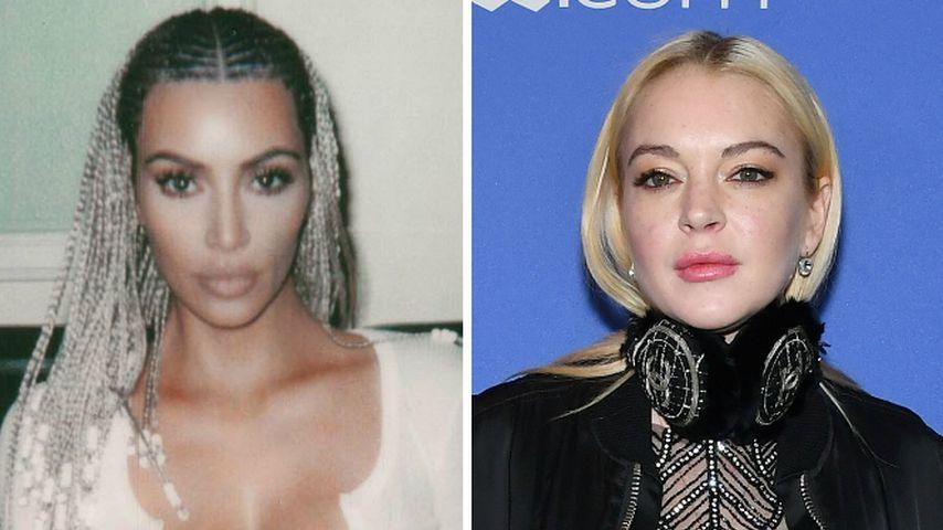 Auf Insta: Kim K. & Lindsay Lohan streiten über Rasta-Frisur