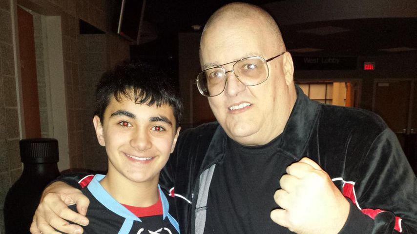 King Kong Bundy mit einem Fan