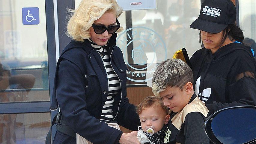 Gwen Stefani, Apollo Bowie Flynn Rossdale und Kingston Rossdale
