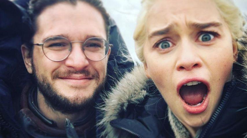 """Kit Harington und Emilia Clarke am Set von """"Game of Thrones"""" 2017"""