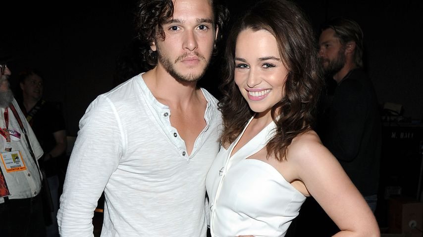 Kit Harington und Emilia Clarke 2011 in Kalifornien