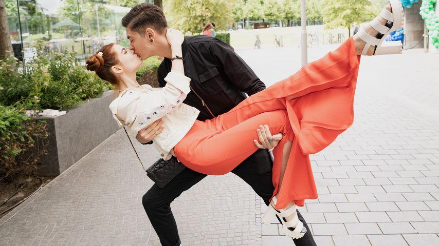 Klaudia Giez und Felipe Simon bei einer Veranstaltung der Mercedes-Benz Fashion Week, Juli 2019
