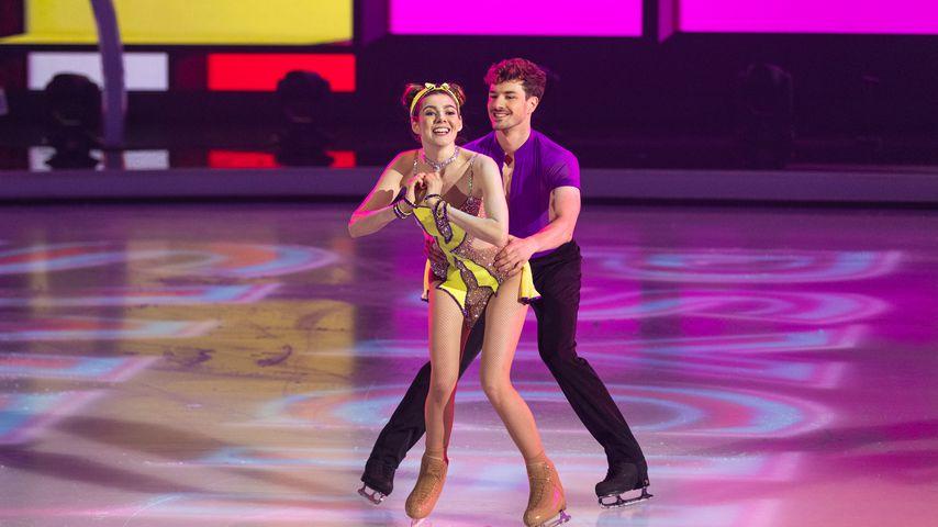 """Klaudia Giez und Sévan Lerche bei """"Dancing on Ice"""""""