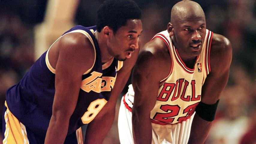 Kobe Bryant und Michael Jordan