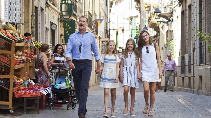 König Felipe, Prinzessin Leonor, Prinzessin Sofía und Königin Letizia auf Mallorca im August 2017