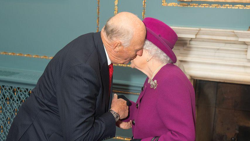 König Harald von Norwegen und Queen Elizabeth II., 2018
