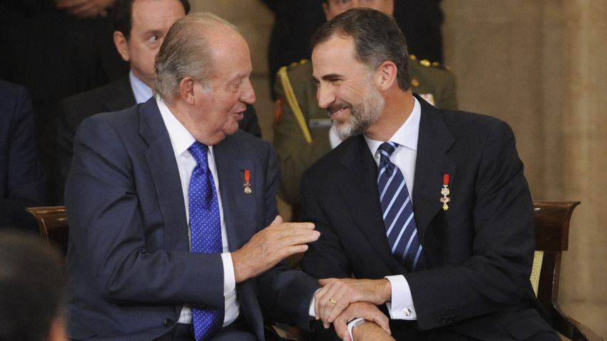 Ex-König Juan Carlos und König Felipe