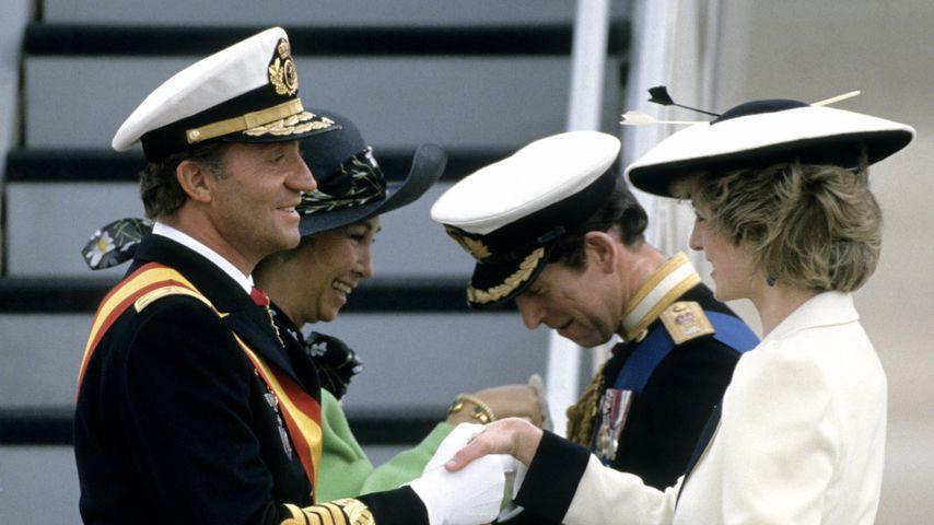 König Juan Carlos und Königin Sofia von Spanien, Prinz Charles und Prinzessin Diana