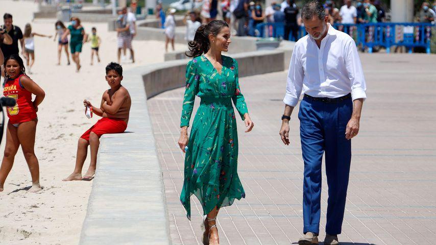 Königin Letizia und König Felipe von Spanien am Strand von Arenal, Juni 2020