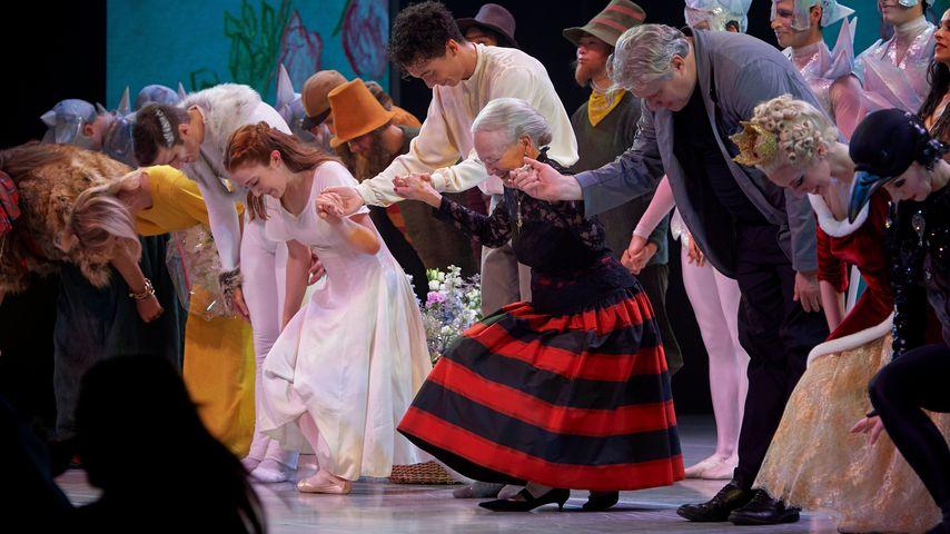 Königin Margrethe II. von Dänemark bei einer Ballett-Aufführung