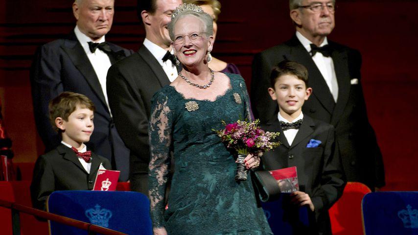 Königin Margrethe und ihre Enkel Felix (l.) und Nikolai (r.)