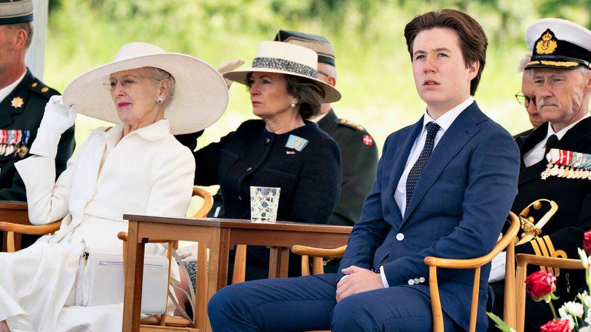 Margrethe von Dänemark und Prinz Christian im Juni 2021