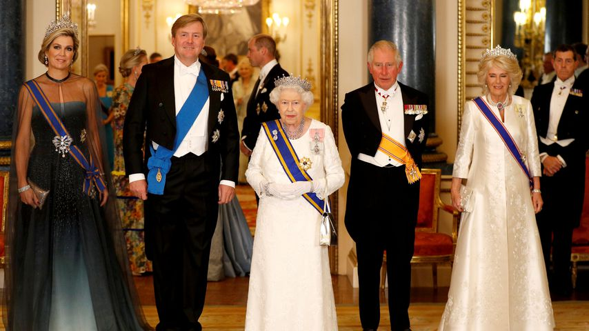 Königin Maxima, König Willem-Alexander, Queen Elizabeth II., Prinz Charles und Herzogin Camilla