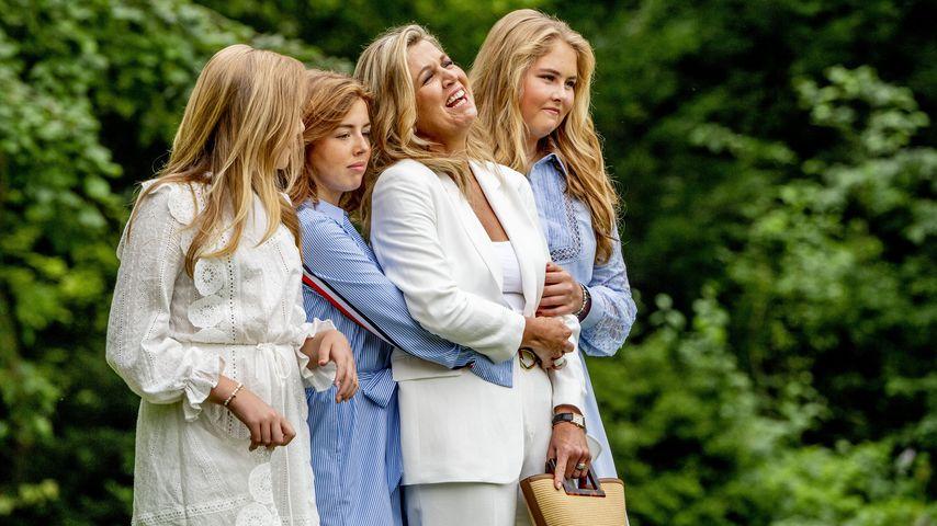Königin Máxima mit ihren Töchtern Ariane, Alexia und Catharina-Amalia