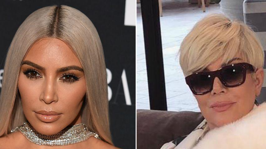 Wie Kim K: Auch Mama Kris Jenner jetzt Wasserstoff-Blondine