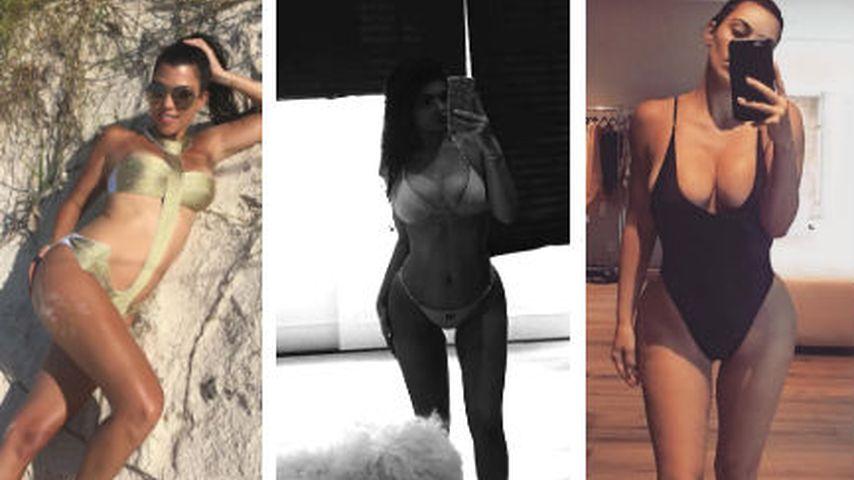 Beach-Wahnsinn: Welche Kardashian-Schwester ist heißer?