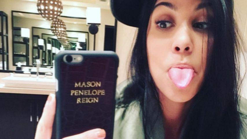 Süße Hülle: Kourtney Kardashian trägt Kinder-Namen am Handy