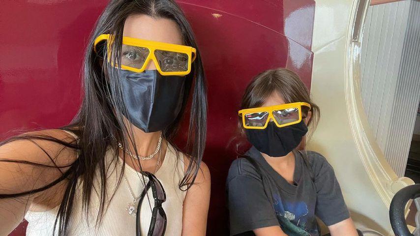 Kourtney Kardashian mit ihrer Tochter Penelope