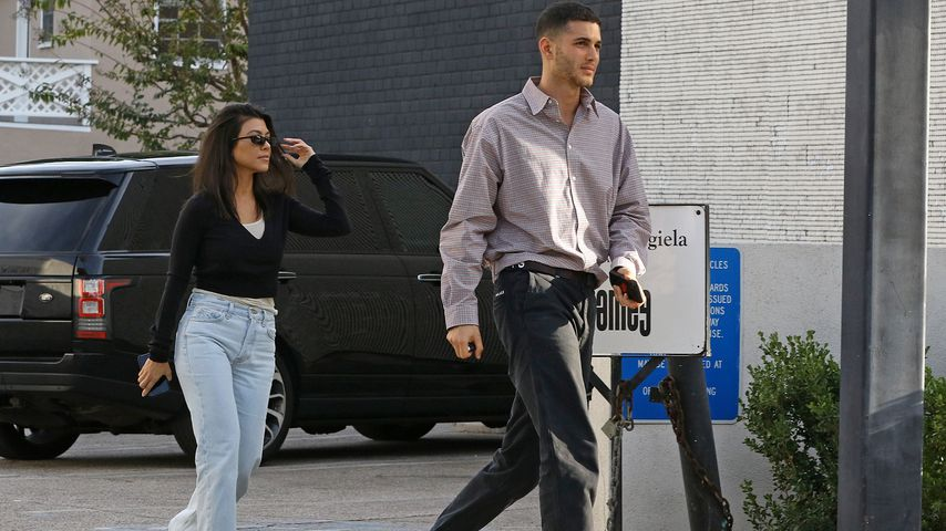 Kourtney Kardashian und ihr unbekannter Freund