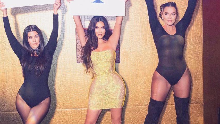 Kourtney, Kim und Khloé Kardashian im Oktober 2020