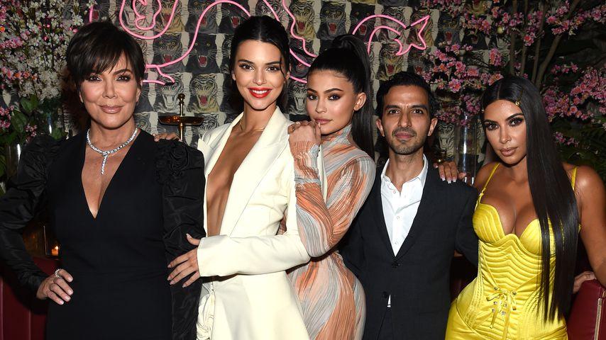 Kris Jenner mit ihren Töchtern Kendall, Kylie und Kim Kardashian