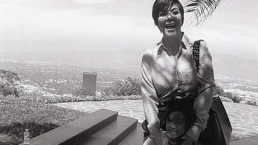 Kris Jenner mit ihrer Enkelin North West