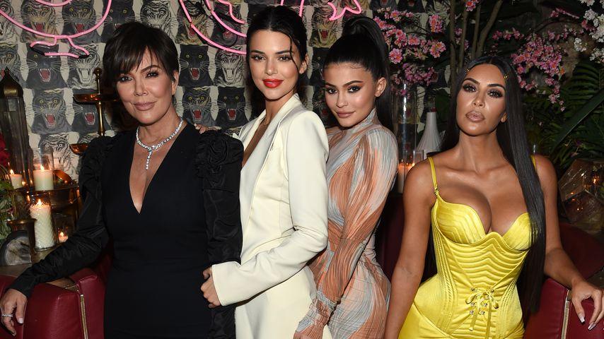 Kris, Kendall und Kylie Jenner mit Kim Kardashian