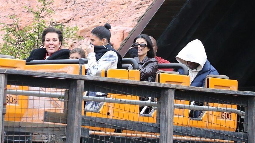 Kris Jenner, Kylie Jenner und Kourtney Kourtney Kardashian; Januar 2020