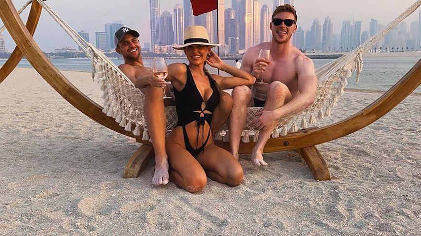 Kris Mochrie und Max Parker mit einer Freundin