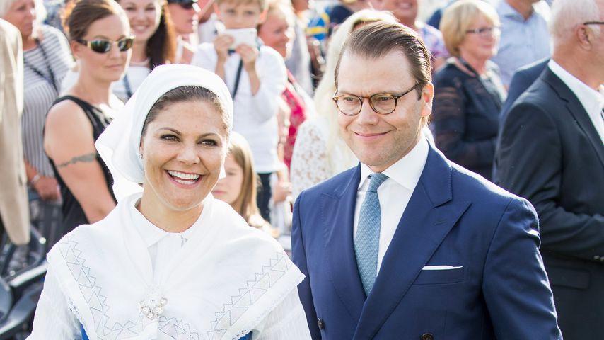 Kronprinzessin Vicotria, Prinzessin Estelle und Prinz Daniel von Schweden in Borgholm 2017