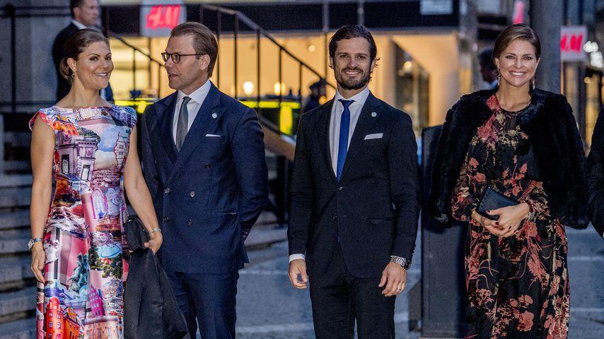 Kronprinzessin Victoria, Prinz Daniel, Prinz Philip, Prinzessin Madeleine im September 2017