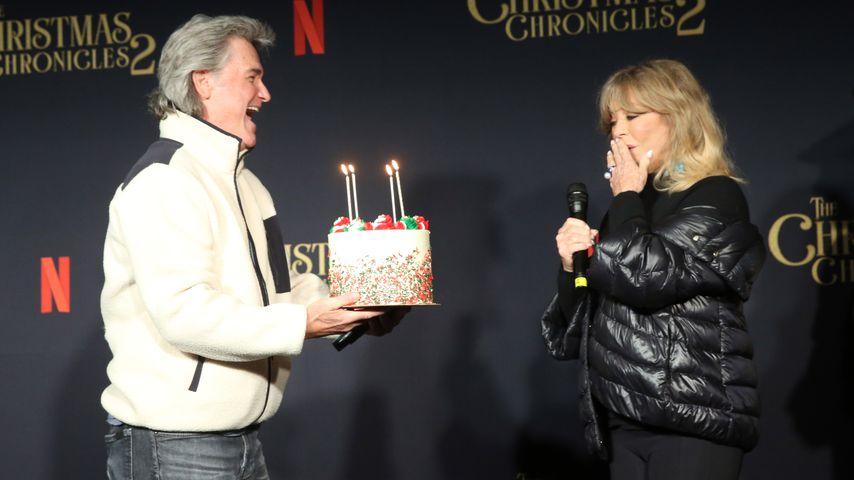Vor 75. Geburtstag: Kurt überraschte Goldie Hawn mit Torte