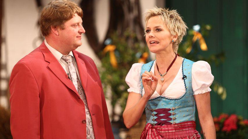 """Kurt und Inka Bause beim """"Bauer sucht Frau""""-Scheunenfest, 2011"""