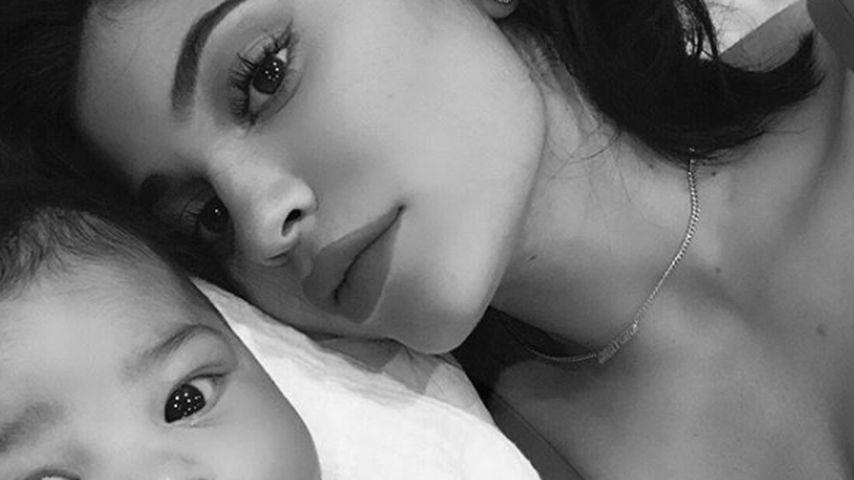 Kylie Jenner und ihre Tochter Stormi im März 2018