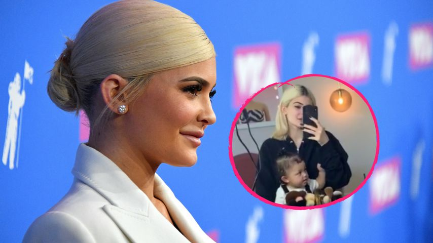 Mit süßem Rülpser: Baby Stormi crasht Kylie Jenners Video!