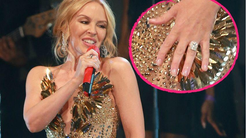 Riesen-Klunker! Hat sich Kylie Minogue heimlich verlobt?
