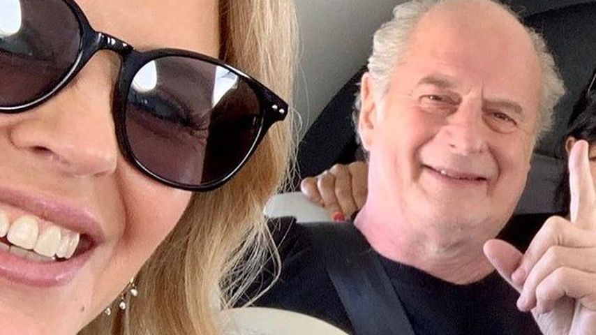 Kylie Minogue und Michael Gudinski