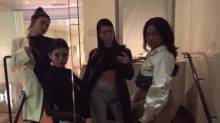 Kylie und Kendall Jenner, Kourtney Kardashian und Jordyn Woods