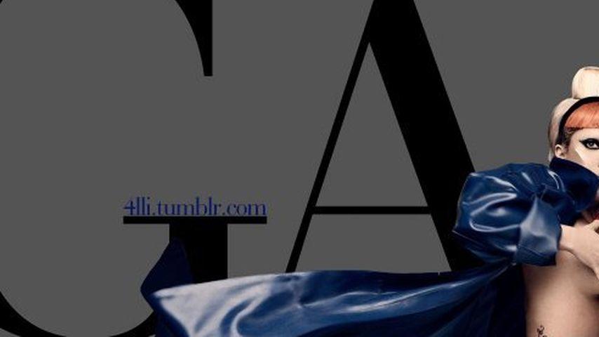Skurrile Bilder: Lady GaGa oben ohne als Einhorn