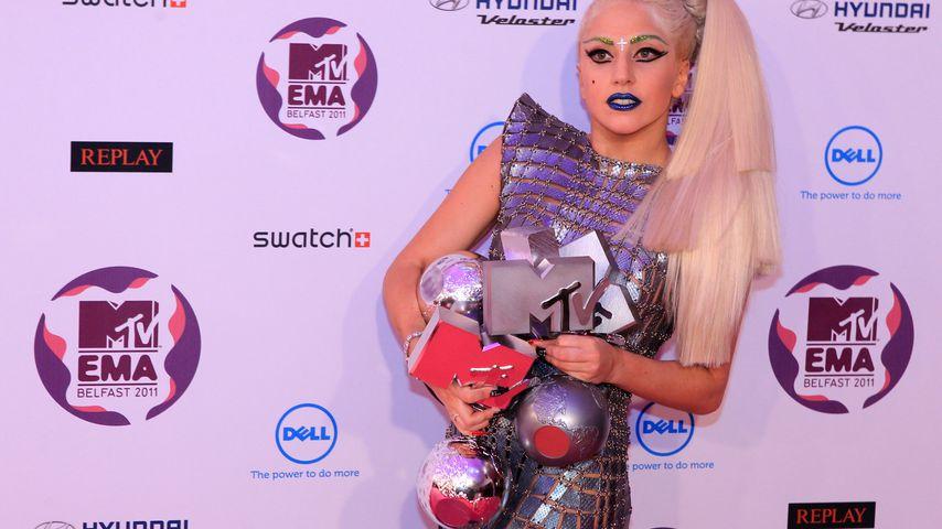 Lady Gaga bei den MTV European Music Awards (EMA) in Belfast im November 2011