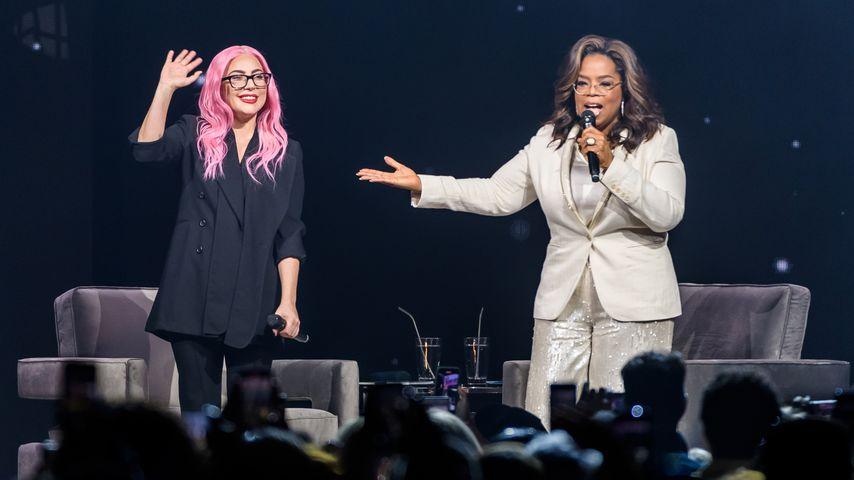 Lady Gaga und Oprah Winfrey im Januar 2020 in Florida