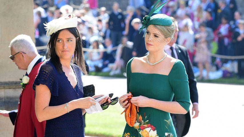 Lady Kitty Spencer (r.) an Herzogin Meghan und Prinz Harrys Hochzeit, Mai 2018
