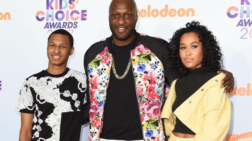 Lamar Odom Jr., Lamar Odom und Destiny Odom bei den KCAs in L.A. im März 2017